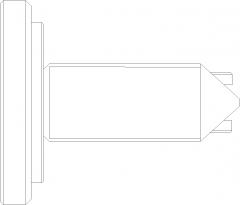 134mm Length Cabinet Door Handle Left Side Elevation dwg Drawing