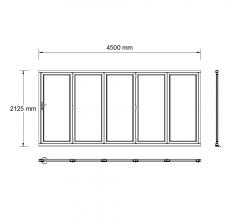 5 Panel bifold door