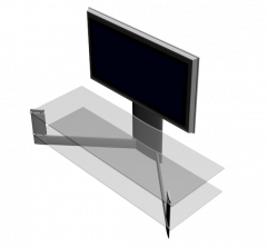 TV on stand 3ds max model