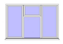 Tpl Casement - Top Hung Centre Window Revit Family