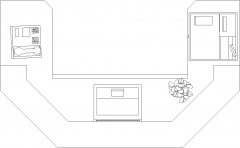 1397mm Width Reception Desk for Salon Plan dwg Drawing