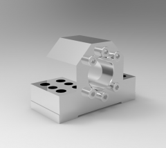 Solid-works 3D CAD Model of Housings for flange nuts,   D1=28D=27,78,4D3=86B=38E=10