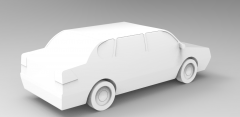 Solid-works 3D CAD Model of  Simple Car Model, 4/5 doors - 4.50 m