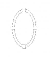 楕円形の窓サラウンド