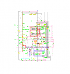 Pump room CAD layout