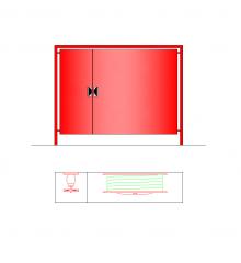 Feuerwehrschlauch Schrank CAD-Zeichnung