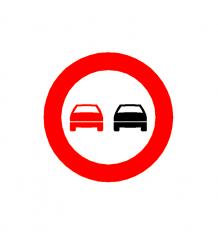 Überholverbot Verkehrsschild CAD Symbol