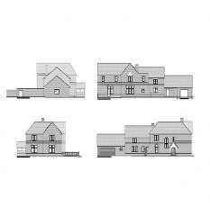 Rectory CAD elevations