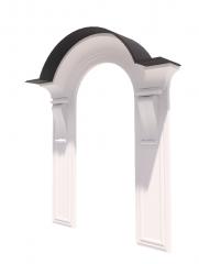Decorative neoclassic door revit family