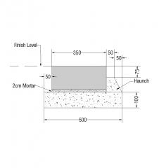 Flush curb detail