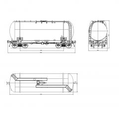 Railway tank wagon CAD block