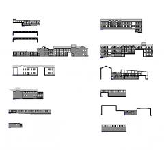 Elevazioni edificio scolastico
