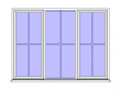 Tpl w Glazing Bars (1) Revit Family