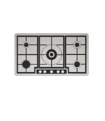 5燃烧器的燃气灶具CAD块