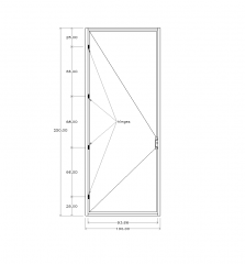 Блок CAD Flush дверь