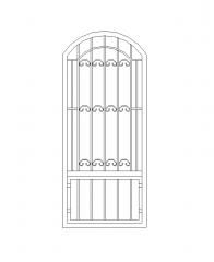 Metal garden gate AutoCAD drawing