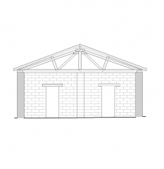 Barn gable end section CAD drawing