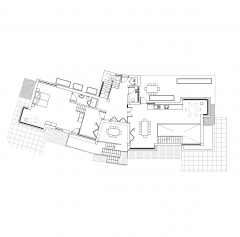 Contemporary house floor plan CAD drawing