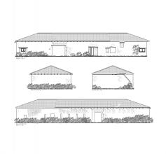 Old barn survey CAD drawing