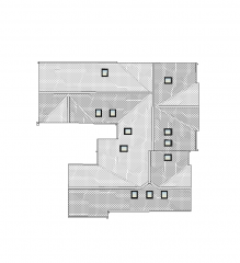 Apartment roof plan