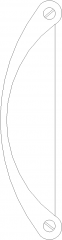 149mm Length Modern Cabinet Knob Front Elevation dwg Drawing