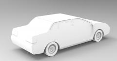 Solid-works 3D CAD Model of Simple Car Model, 4/5 doors - 4.70 m / 4.80 m