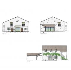 Renoviert französisch-Haus-Design CAD-Zeichnung