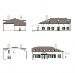 French mansion design CAD drawing