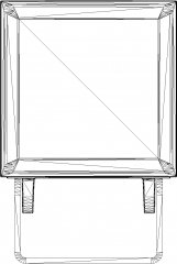 152mm Length Miniloft Spot Light Front Elevation dwg Drawing