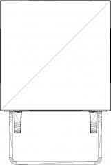 152mm Length Miniloft Spot Light Rear Elevation dwg Drawing