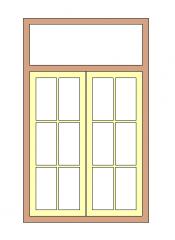 Fenêtre Double Volet (Meneau) Avec Vitre Fixe Famille Revit