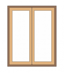 Window Double Shutter Revit Family