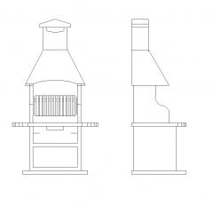 Mauerwerk Grill CAD Block