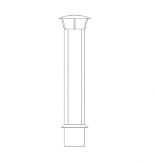 Kaminzug CAD-Zeichnung