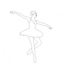 Ballerina CAD dwg