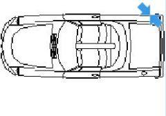 Porsche in top view dwg model