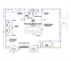 浴室布局设计方案DWG