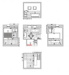 Bad Design Plan und Höhen dwg