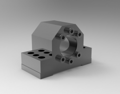 Solid-works 3D CAD Model of Housings for flange nuts,   D1=40D=29,710,5D3=108B=51E=16