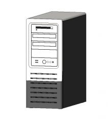 Desktop Tower Computer Revit Family