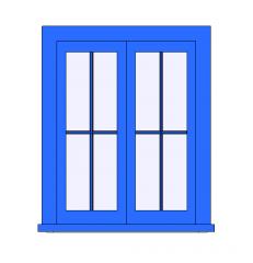Casement Double Window Revit Family