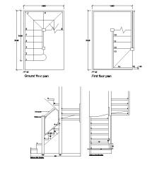 Diseño de la escalera de la pierna del perro dwg