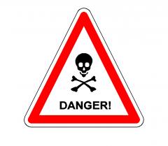 Danger sign dwg CAD block