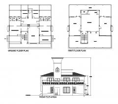 会所设计计划和高程dwg