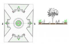 Disegno del paesaggio del parco CAD disegno dwg