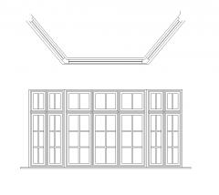 Schiebefenster CAD-Block dwg
