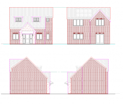 New build detached house design CAD drawing