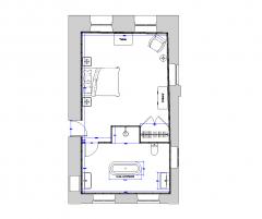 Hauptschlafzimmer und ensuite Design DWG-Layout