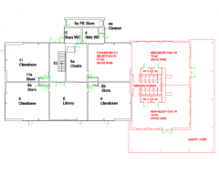 First school extension plans and elevations CAD dwg drawing