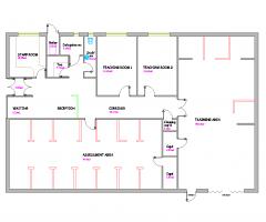 ガストレーニングセンターDWG CAD図面